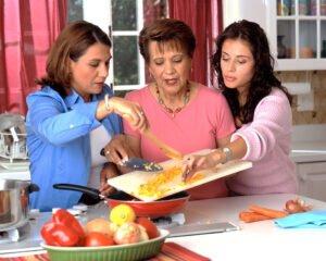 Hispanic Women Preparing Food