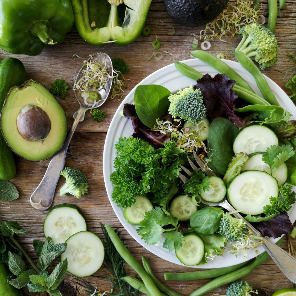 Leafy greens with folic acid